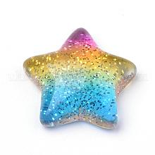 Rainbow Resin Cabochons