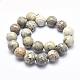 Natural Fossil Coral Beads StrandsUK-G-K256-11-20mm-2