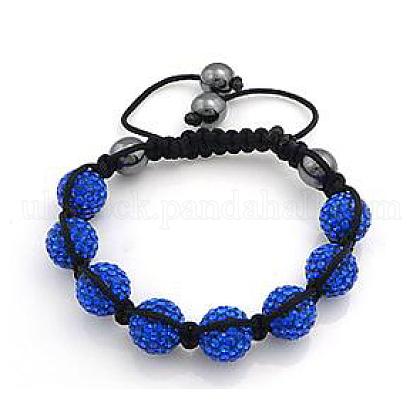 Fashion Diamond BraceletsUK-BJEW-N138-148D-K-1