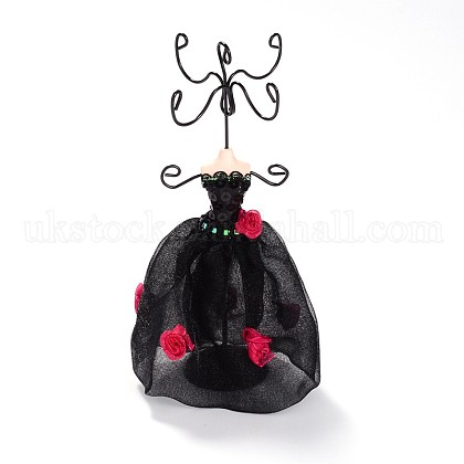 Evening Gown Resin Yarn Earring Display StandsUK-EDIS-N010-01C-1