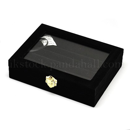 Wooden Rectangle Ring BoxesUK-OBOX-L001-06A-1