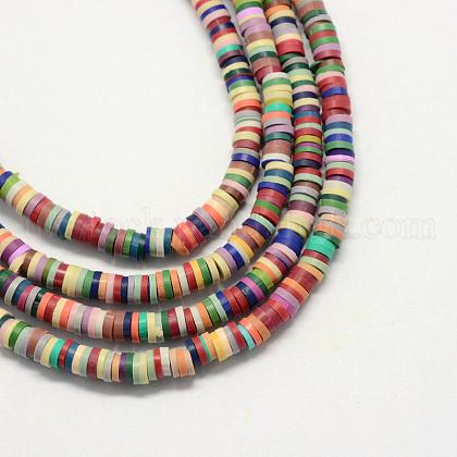Eco-Friendly Handmade Polymer Clay BeadsUK-X-CLAY-R067-3.0mm-M2-1