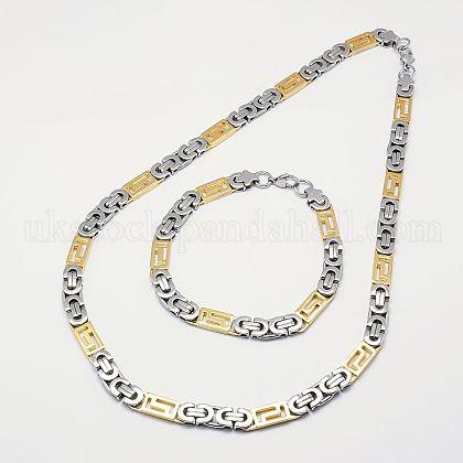 Fashionable 304 Stainless Steel Jewelry SetsUK-SJEW-I006-15B-K-1