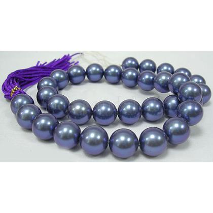 Shell Pearl Beads StrandsUK-X-SP10MM637-1
