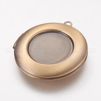 Brass Locket PendantsUK-KK-G311-05AB-1