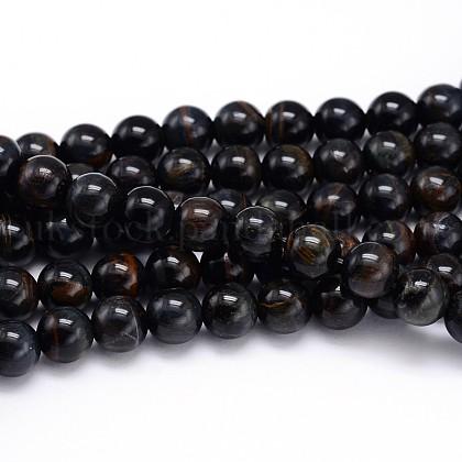 Natural Gemstone Round Bead StrandsUK-G-J303-12-8mm-K-1