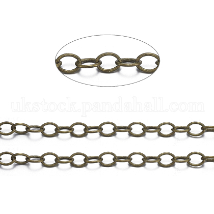 Brass Cable ChainsUK-X-CHC024Y-AB-1
