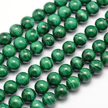 Natural Malachite Beads StrandsUK-G-O152-47-8mm-1