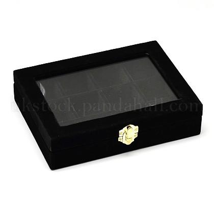 Wooden Rectangle Jewelry BoxesUK-OBOX-L001-04A-1