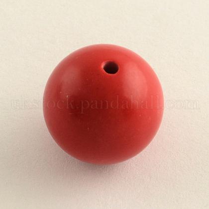 Round Cinnabar BeadsUK-X-CARL-Q002-8mm-1