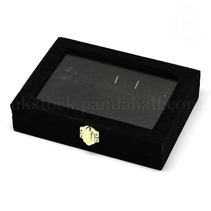 Wooden Rectangle Jewelry BoxesUK-OBOX-L001-05B-1