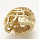 Brass Micro Pave Cubic Zirconia Football Helmet BeadsUK-ZIRC-S061-52G-3