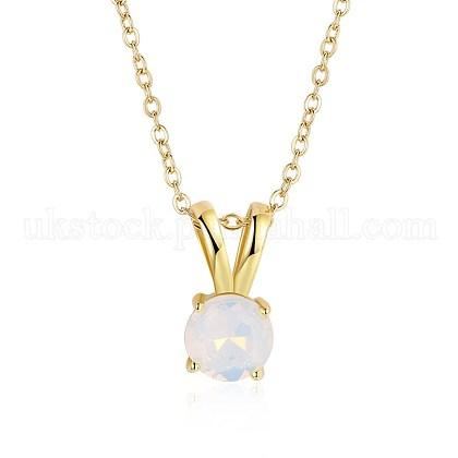 Brass Pendant NecklacesUK-NJEW-BB20395-1