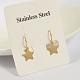 Star 304 Stainless Steel Dangle EarringsUK-EJEW-O040-03G-K-2
