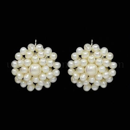 Natural Cultured Freshwater Pearl PendantsUK-PEAR-N005-02B-K-1