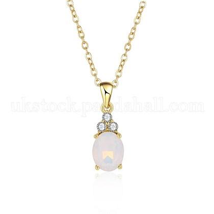 Brass Pendant NecklacesUK-NJEW-BB20396-1