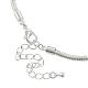 Brass European Style Necklace MakingUK-PPJ-PPJ036-S-2