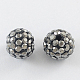 Pave Disco Ball Beads UK-RB-A140-8mm-5-1