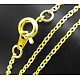 Brass Cable Chain Necklace Marking UK-SW028-G-1
